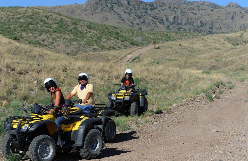 ATV at Cibolo Creek Ranch.
