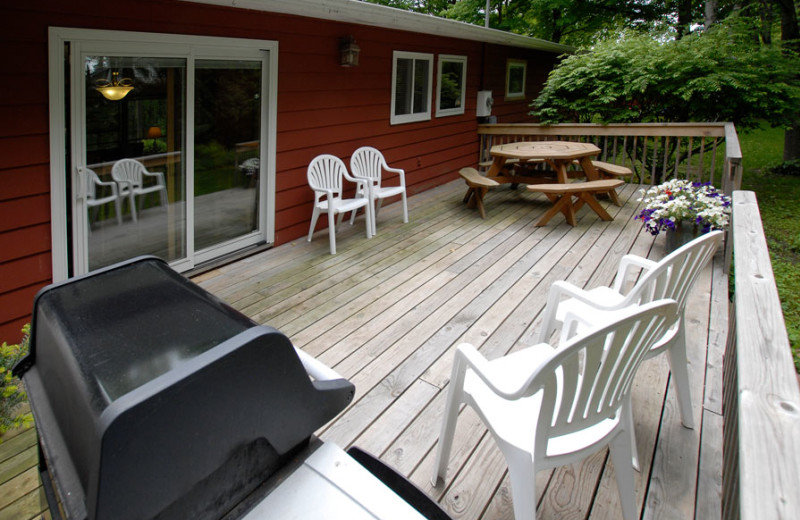 Cottage deck at The Shallows Resort.