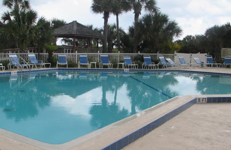 One of two pools and Sundeck, one pool heated