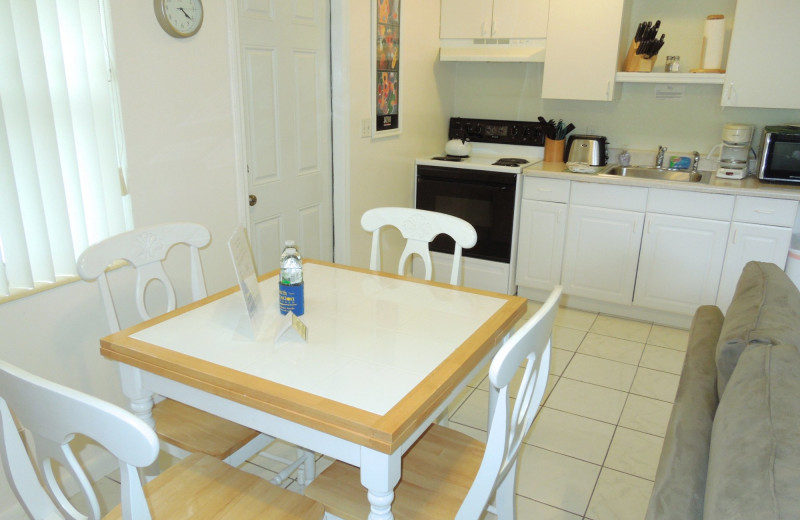 Rental kitchen at Beach Vacation Rentals.