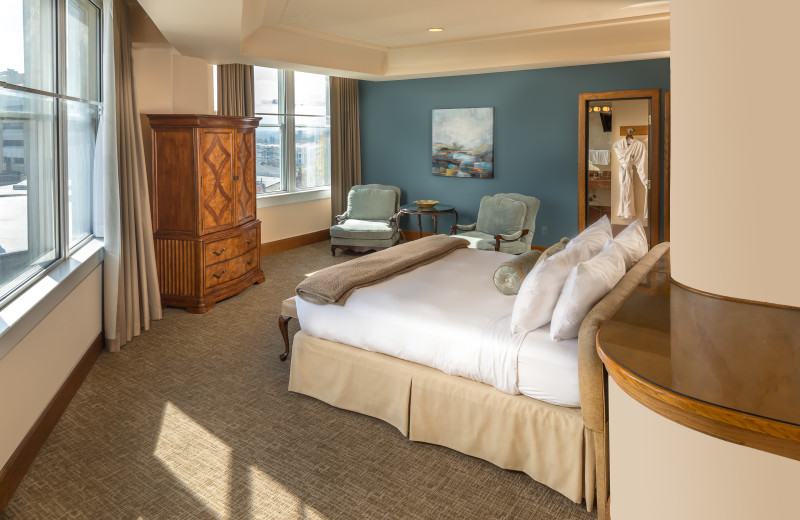 Guest room at Haywood Park Hotel.