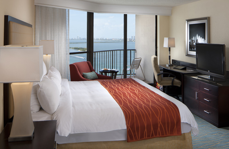 Guest room at Miami Biscayne Bay Hotel.