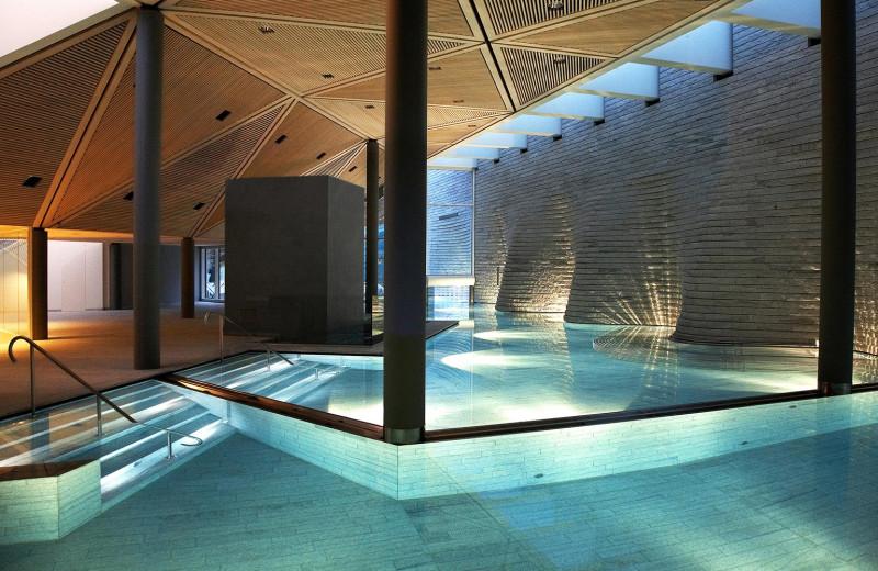 Indoor pool at Tschuggen Grand Hotel.