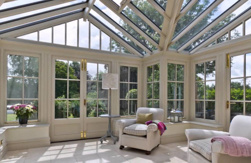 Sun room at Old Vicarage Country House Hotel.