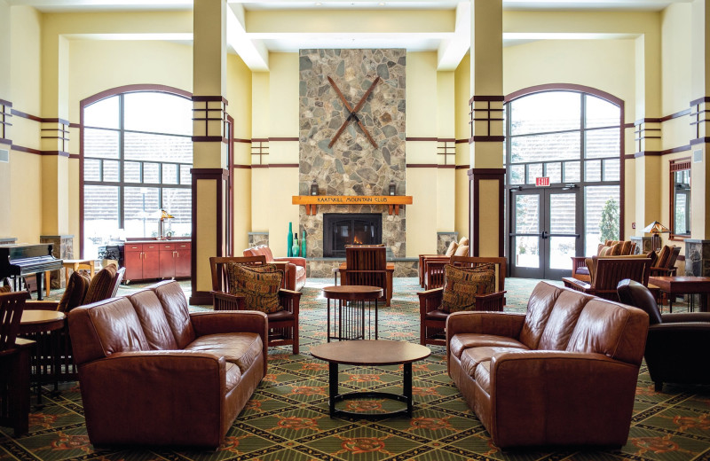 Lobby at Hunter Mountain Ski Resort.