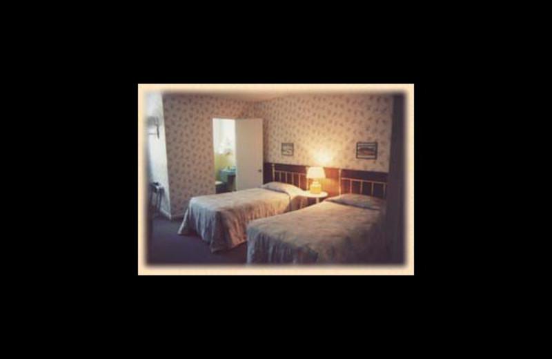 Guest room at Swiss Inn.
