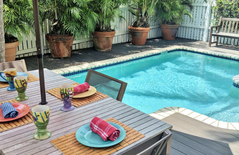 Rental pool at Preferred Properties Key West.