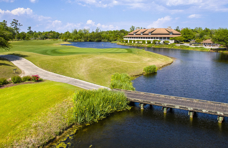 Golf course at Barefoot Resort Rentals.