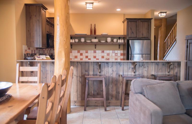Guest kitchen at Northstar Mountain Village Resort.