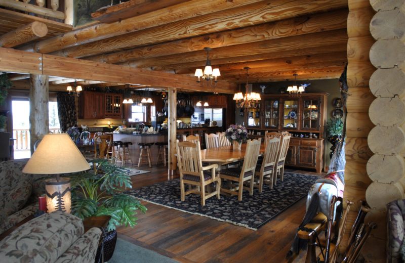 Breakfast area at Pine Lakes Lodge.