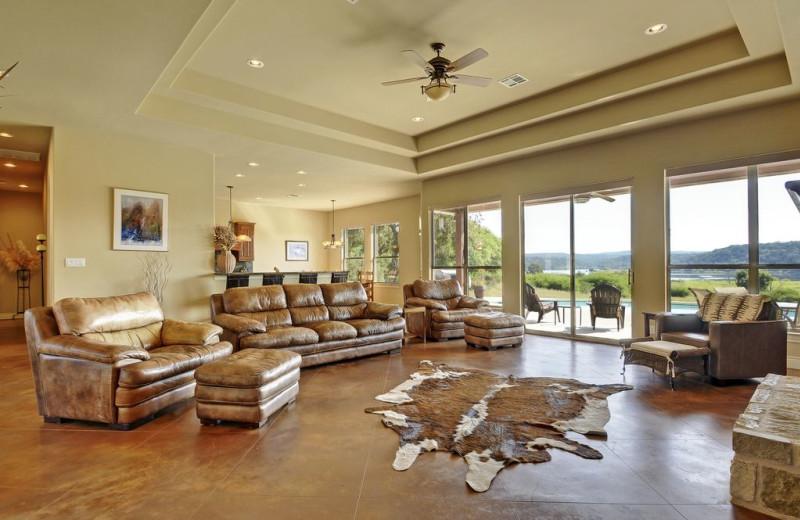 Living room at Hill Country Ranch at Lake Travis.