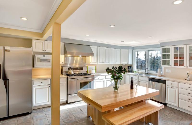 Rental kitchen at Killington Rental Associates.