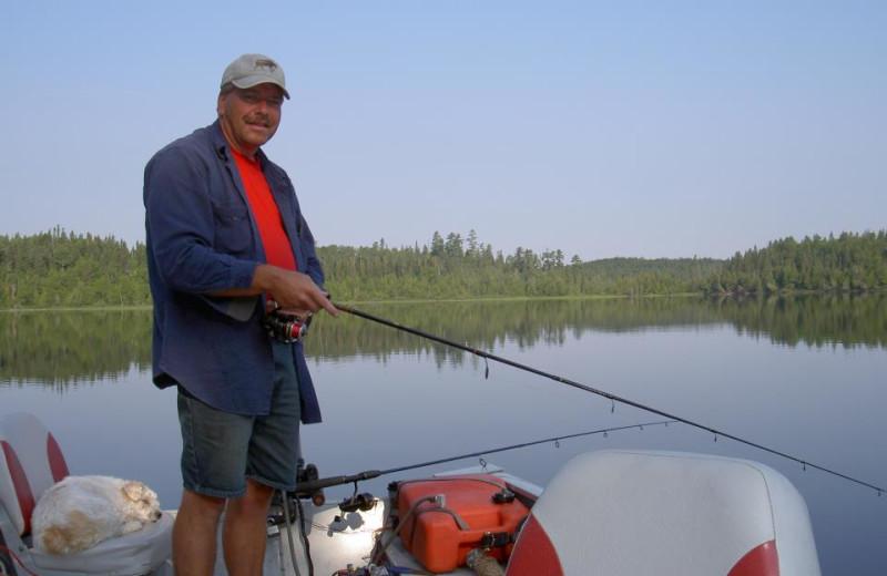 Fishing at Houston Lake Camp
