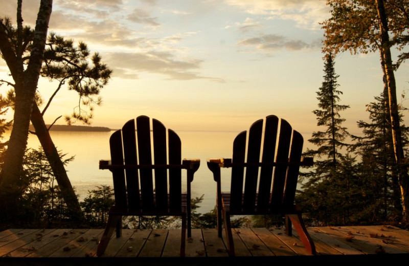 Lake view at Siskiwit Bay Lodge.