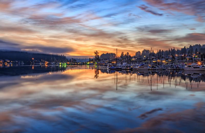 Harbor sunset at The INN at Gig Harbor.