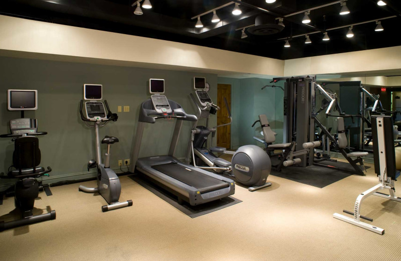 Fitness center at Vail's Mountain Haus.