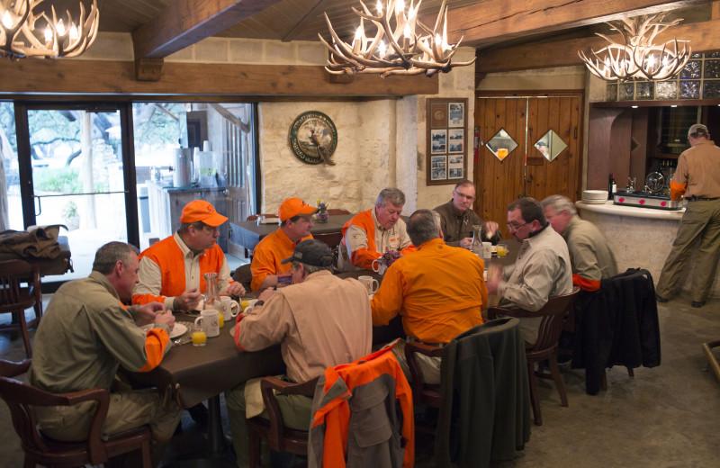 Dining at Joshua Creek Ranch.