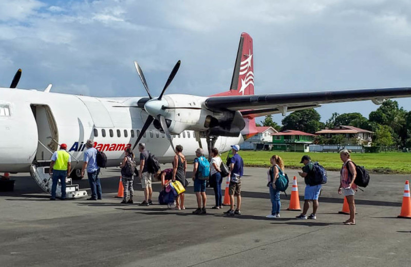 Plane transport to Bocas Bali Resort.