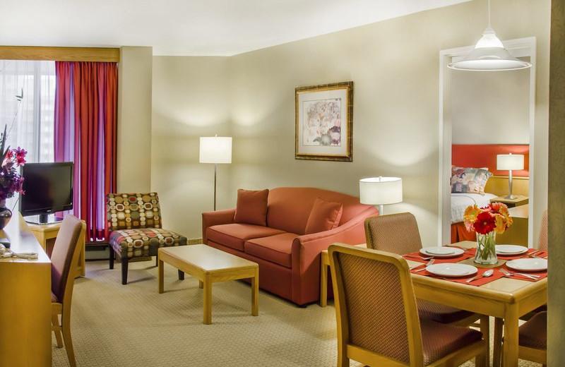 Guest suite at Cartier Place Suite Hotel.
