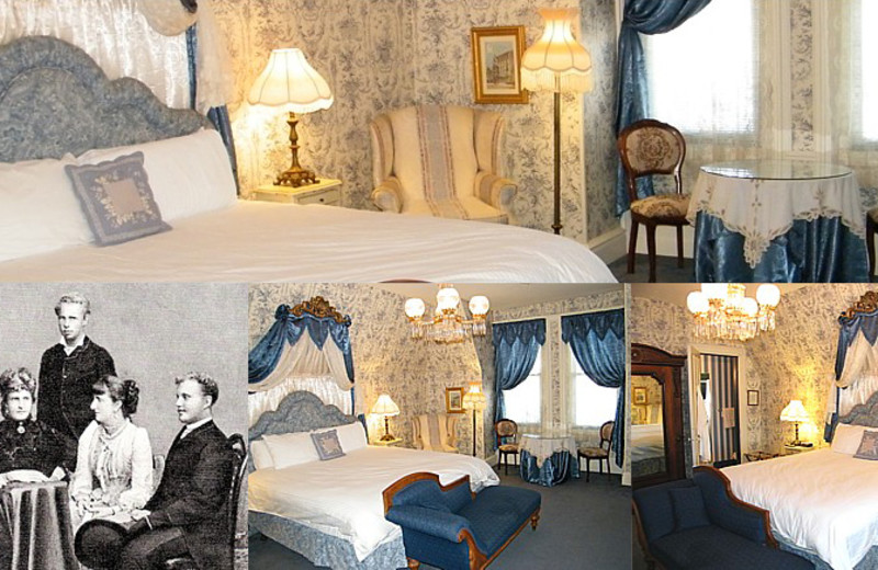 Queen Maria Pia room at Batcheller Mansion Inn Bed and Breakfast.