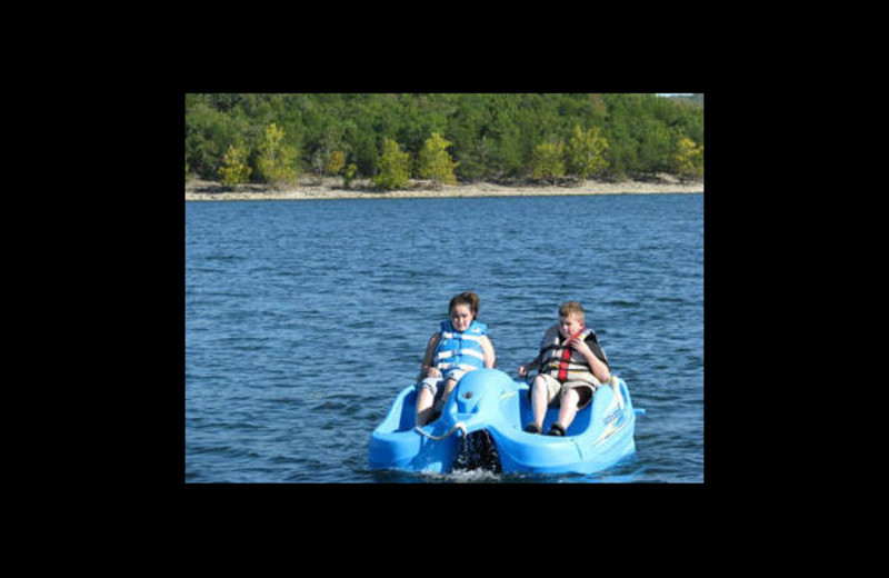 Paddle boat at Green Valley Resort.