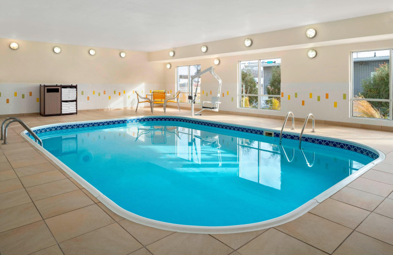 Indoor pool at Fairfield Inn Lima.