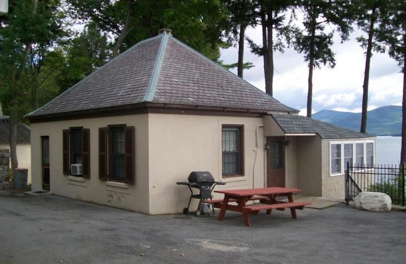 Cottage exterior at The Depe Dene Resort.