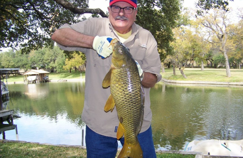 Fishing at Turtle Rock Cottage on Lake LBJ.