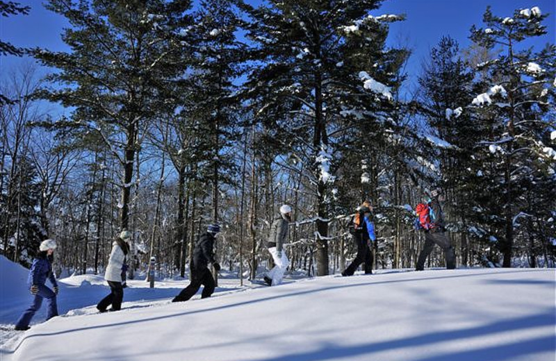 Snowshoeing at The Rosseau, A JW Marriott Resort & Spa.