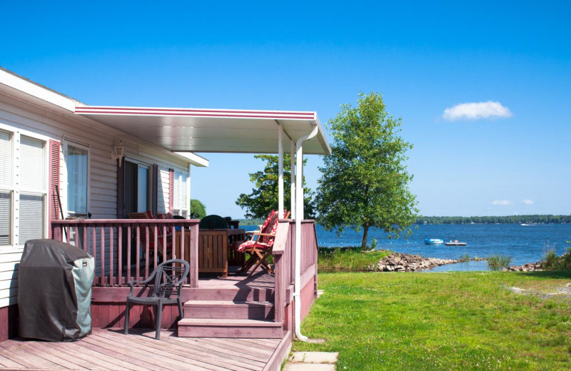 Cottage exterior at Great Blue Resorts- McCreary's Beach Resort.
