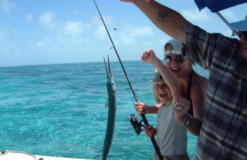 Fishing at Belize Beach Suites on Ambergris Caye.