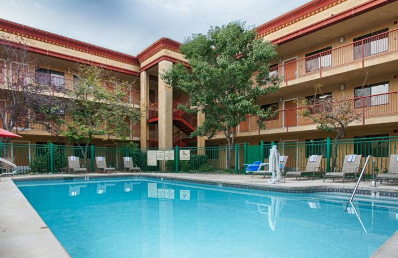 Outdoor pool at Orchid Suites Roseville.