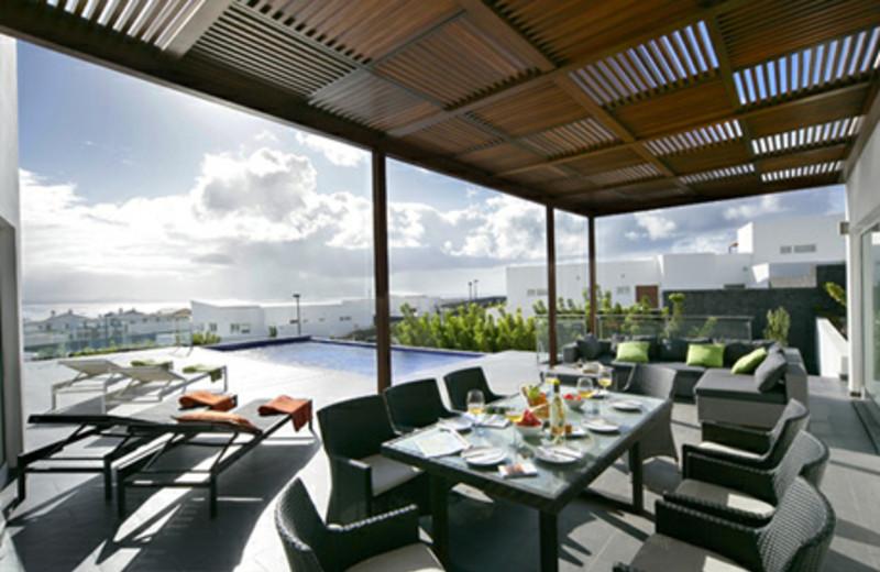 Private patio at Playa Blanca.