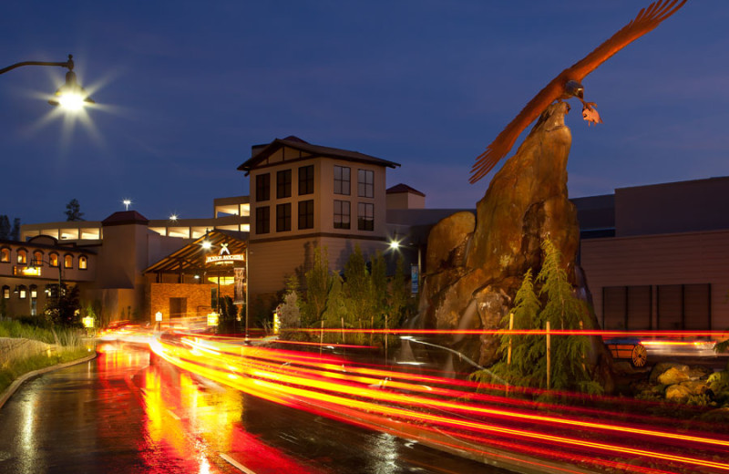 Exterior view of Jackson Rancheria Casino & Hotel.