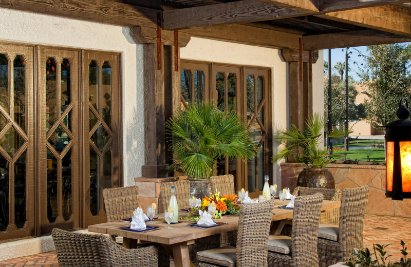 Patio dining at The Wigwam Resort.