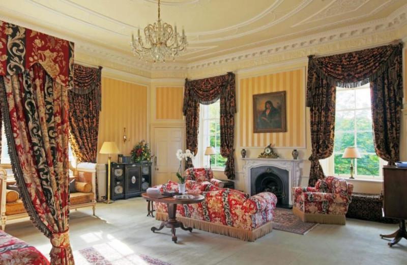 Guest room at Glenapp Castle.
