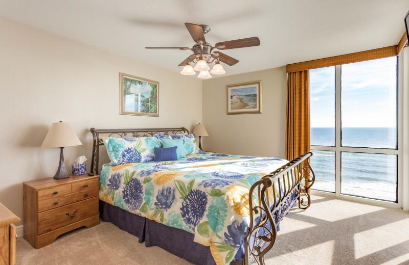 Rental bedroom at Perdido Sun Condos.