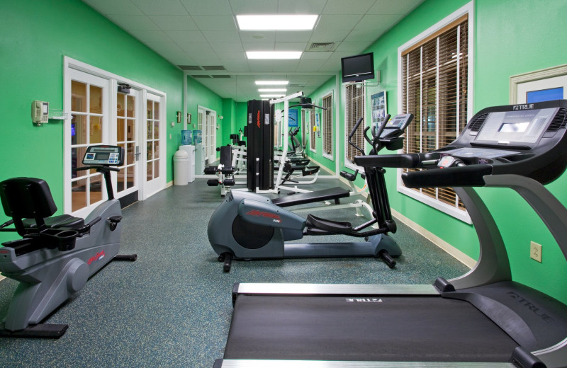 Fitness center at Holiday Inn Club Vacations South Beach Resort.