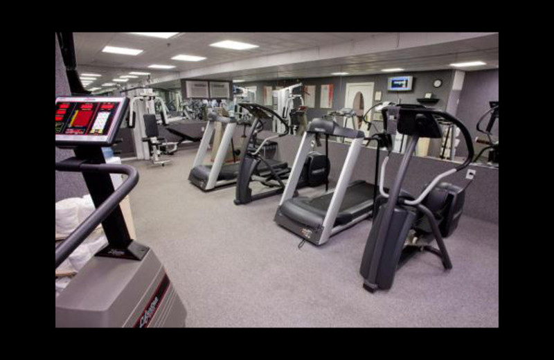 Fitness room at Boardwalk Plaza Hotel.