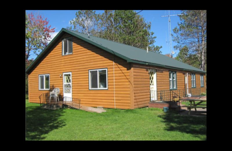 Cabin exterior at Brumley's Resort.