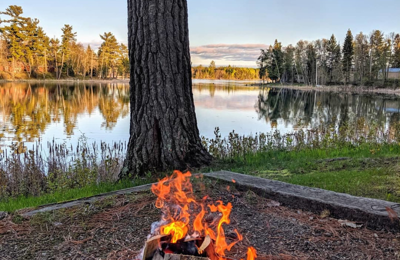 Enjoy nature at our numerous campfire rings around the resort.