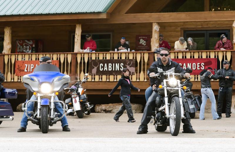 Biker group at Buffalo Outdoor Center.