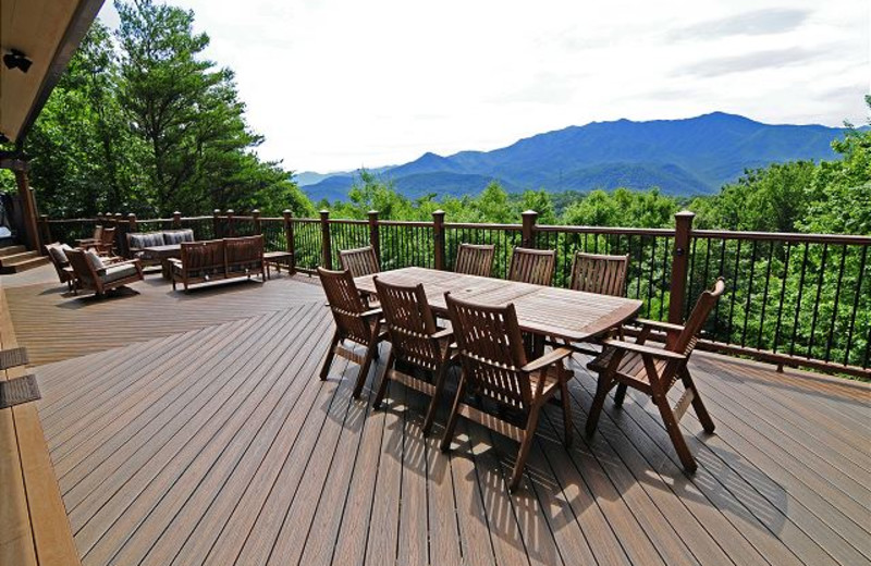 Rental deck at Chalet Village.