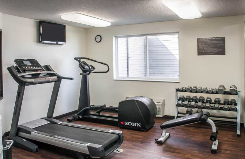 Fitness room at Comfort Inn Fergus Falls.