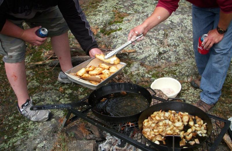 Fish fry at Cliff Lake Resorts.
