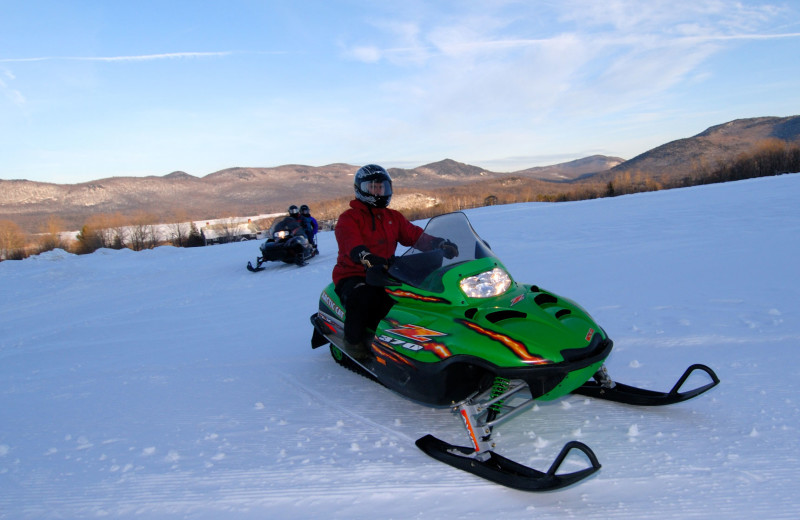 Snowmobiling at The Mountain Top Inn & Resort.