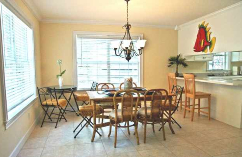 Rental dining room at Real Escapes Properties.