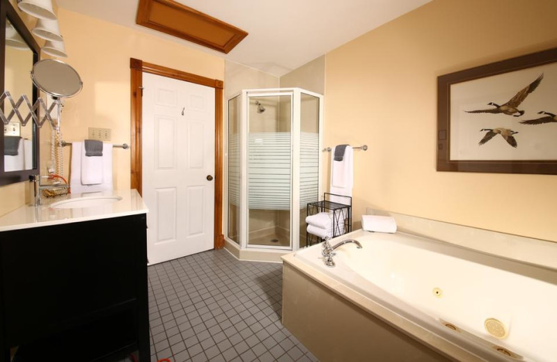 Guest bathroom at Kettle Creek Inn & Restaurant.