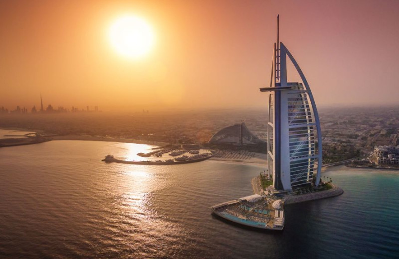 Exterior view of Burj Al Arab.