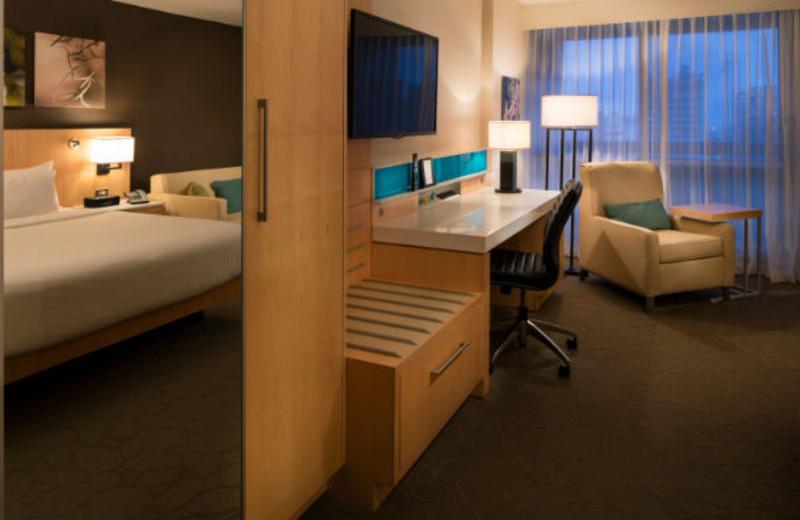 Guest room at Delta Winnipeg.
